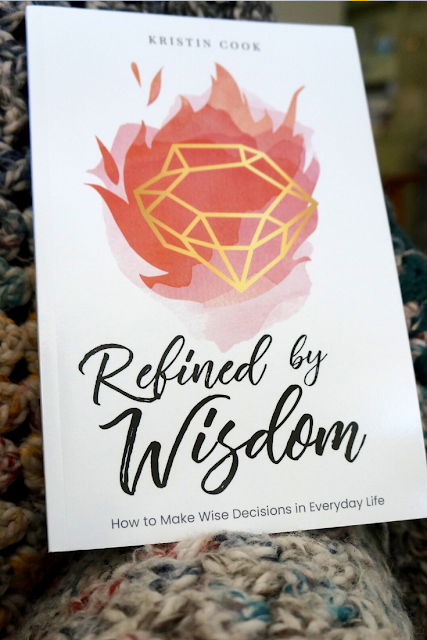 "Picture of a book called ""Refined by Wisdom"" that teaches about how to grow in wisdom as a Christian"