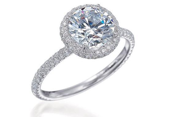 Expensive Diamond Engagement Ring Photo Shoot