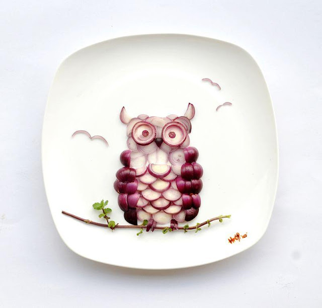 Funny,amazing,gorgeous art work on the plate