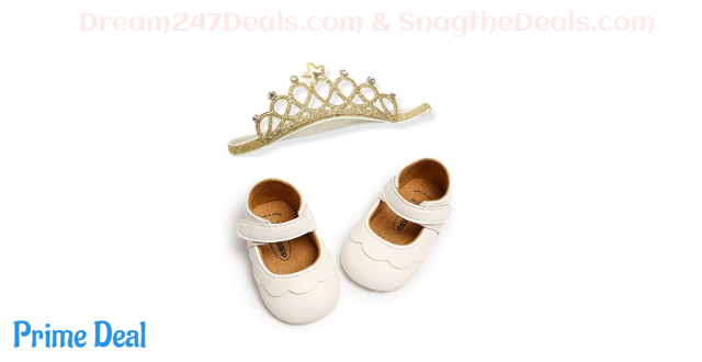40%OFF baby girl shoes with headband