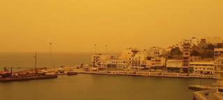 «Πνίγηκε» η Κρήτη από την αφρικανική σκόνη - Εφτασε στην Ηλεία