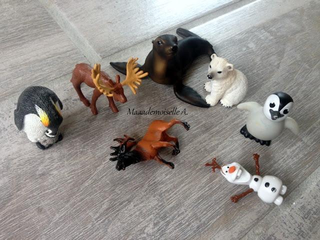 || Table des saisons : L'hiver - Figurines d'animaux polaires