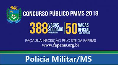 Editais concursos Polícia Militar-MS 2018