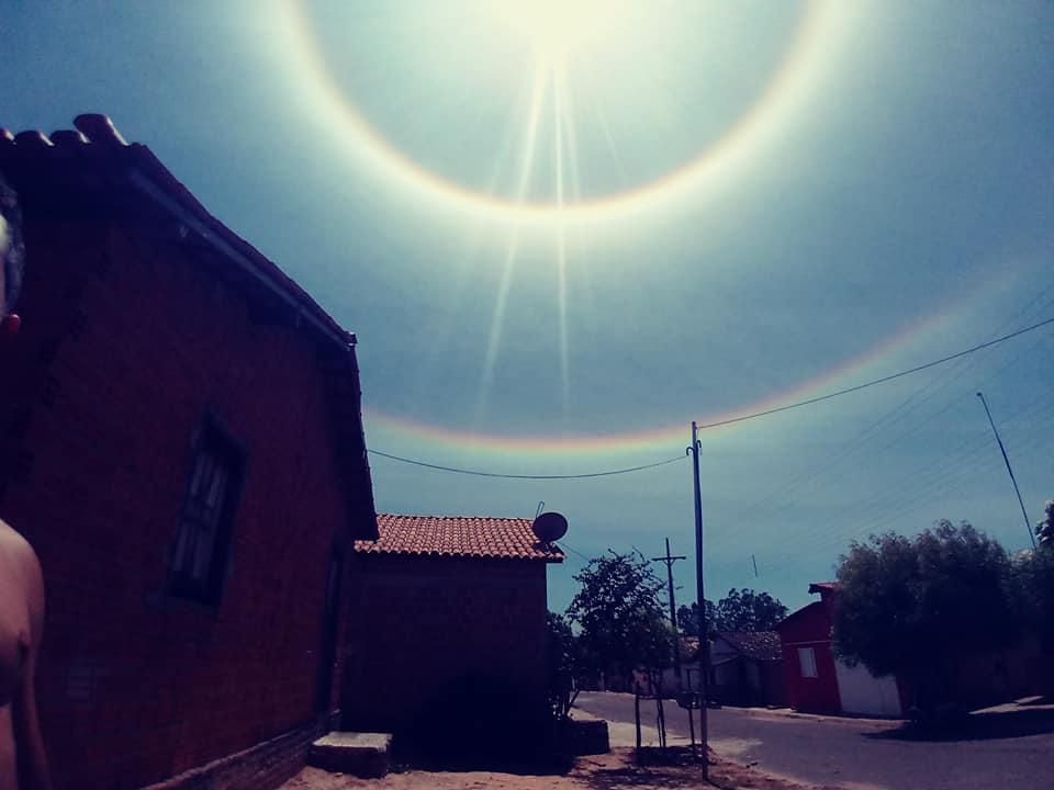Halo Solar E Observado Em Sao Raimundo Das Mangabeiras Memorias De Mangabeiras