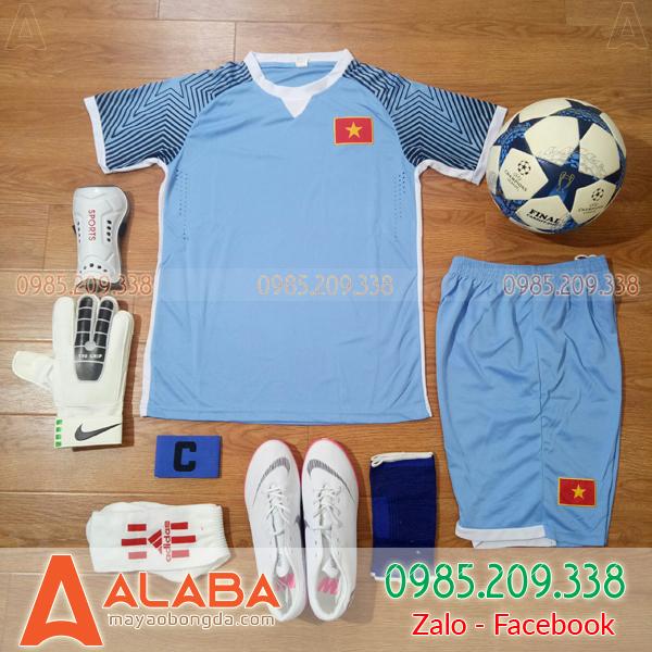 Áo Việt Nam Training màu xanh