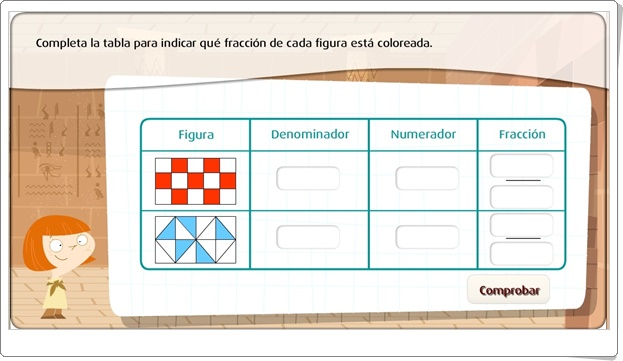 """""""Resuelve problemas de fracciones descifrando jeroglíficos"""" (Juego de Matemáticas de Primaria)"""