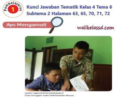 Kunci Jawaban Buku Tema 6 Subtema 2 Kelas 4 Halaman 63, 65, 70, 71, 72