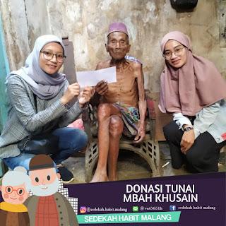 Mbah Khusain : Donasi Tunai