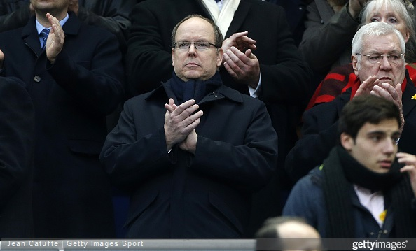 Prince Albert II of Monaco attends the RBS Six Nations rugby match between France and Wales at Stade de France stadium on February 28, 2015 in Saint-Denis near Paris, France
