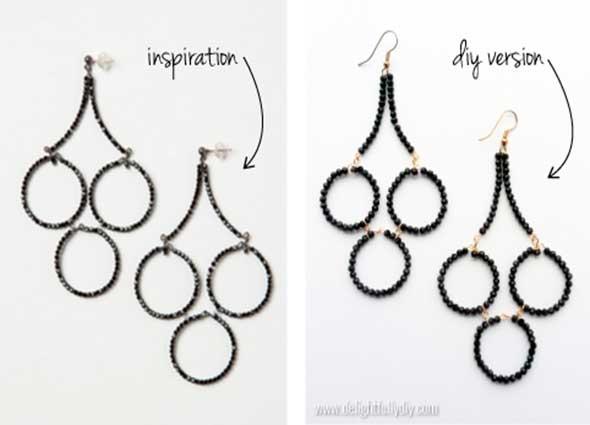 pendientes, tutorial, bisutería, diys, manualidades, earrings,anthropologie,chandelier
