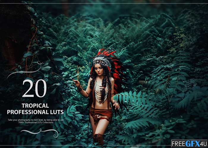 20 Tropical LUTs Pack