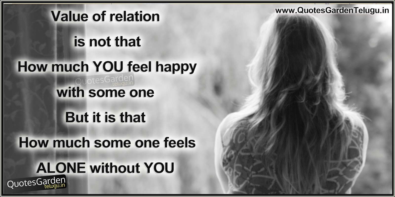 Happines And Loneliness In Relationship Beautiful Quotes N Thoughts Quotes Garden Telugu Telugu Quotes English Quotes Hindi Quotes