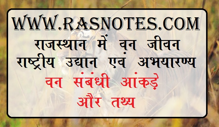 forest in rajasthan notes for rpsc exam