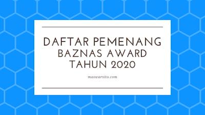 daftar peraih pemenang penghargaan baznas award 2020