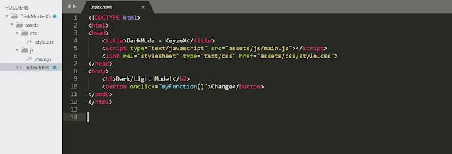 Cara Membuat Dark Mode dan Light Mode di HTML Menggunakan CSS dan Javascript