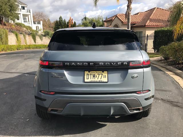Rear view of 2020 Range Rover Evoque