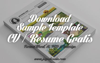 Download 10 Template Resume (CV) Terbaik Dalam Format Word