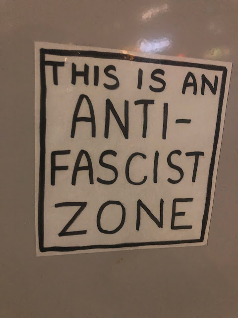 "Sticker: ""This Is An A/nti-Fascist Zone"""