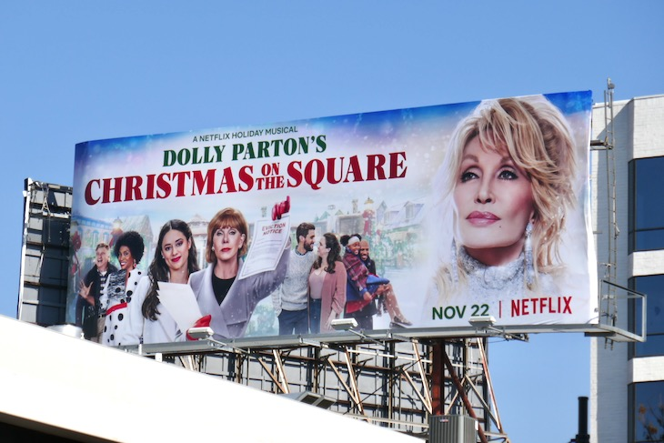 Dolly Partons Christmas on the Square movie billboard