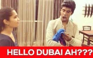 Vadivelu DUBAI ah? Arun Sanjana Tamil Dubsmash