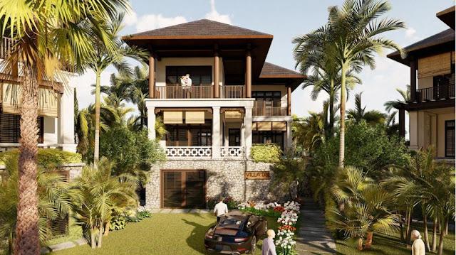 Mê đắm ngắm nhìn cảnh sắc tuyệt mỹ biệt thự phong cách Tropical tại dự án Sunshine Heritage Resort Hà Nội