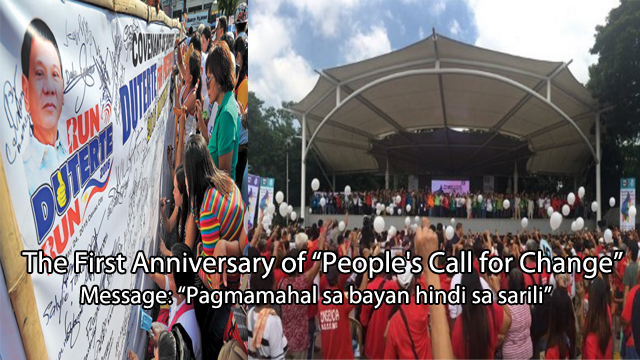 "Watch Thousands Of Our Fellow Duterte Supporters Celebrates First Anniversary Of ""People's Call for Change"""