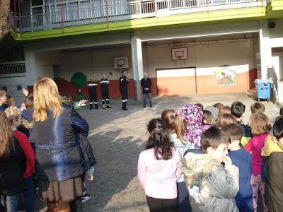 14ο Δημοτικό Σχολείο Κατερίνης. Άσκηση ετοιμότητας για σεισμό
