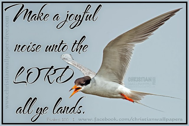Joyful Praise Bible Verse Wallpaper