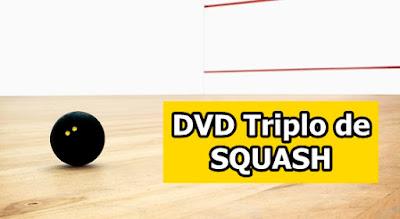DVD triplo de Treinamento em Squash