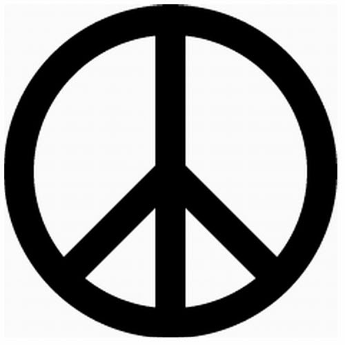 Peace sign tattoo stencil