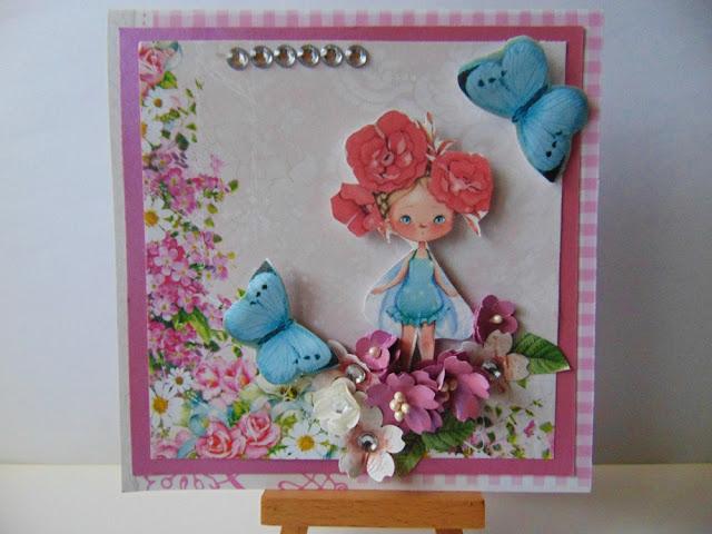 Karteczka urodzinowa z grafiką dla Mariki