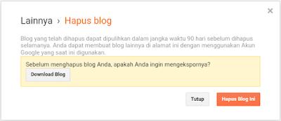 menghapus blog pribadi lewat hp