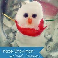 {Easy Indoor Snowman!}