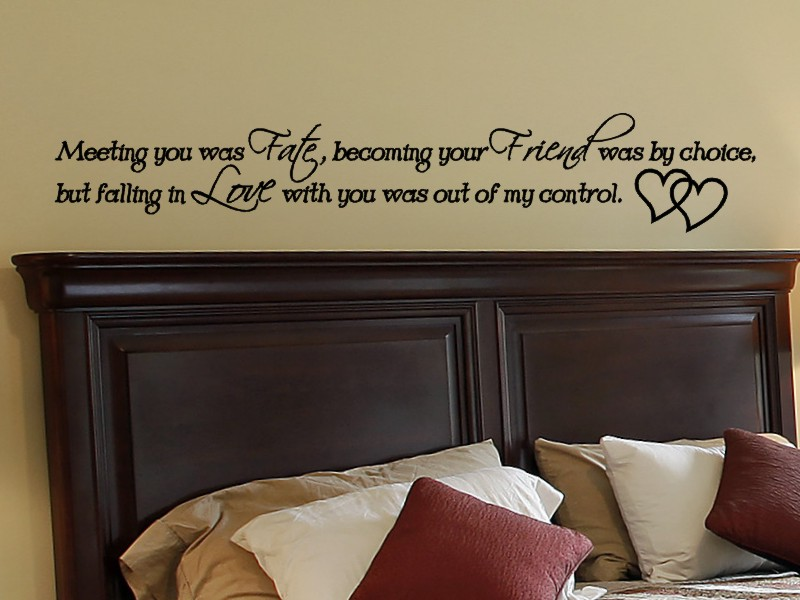 heart family Wonderful bedroom Quote Wall Stickers Art ...