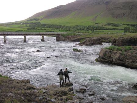 Laxa River in Iceland Fishing Spots