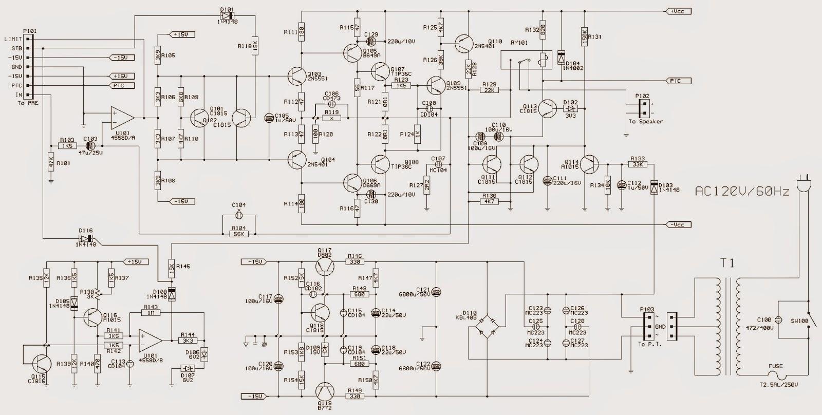 schematic diagram amplifier 500 watts