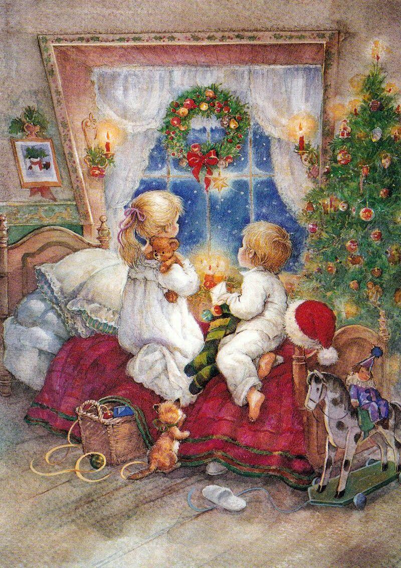Immagini Cartoline Natale Vintage.The Reign Of Ema Cartoline Natalizie Vintage Con Babbo Natale