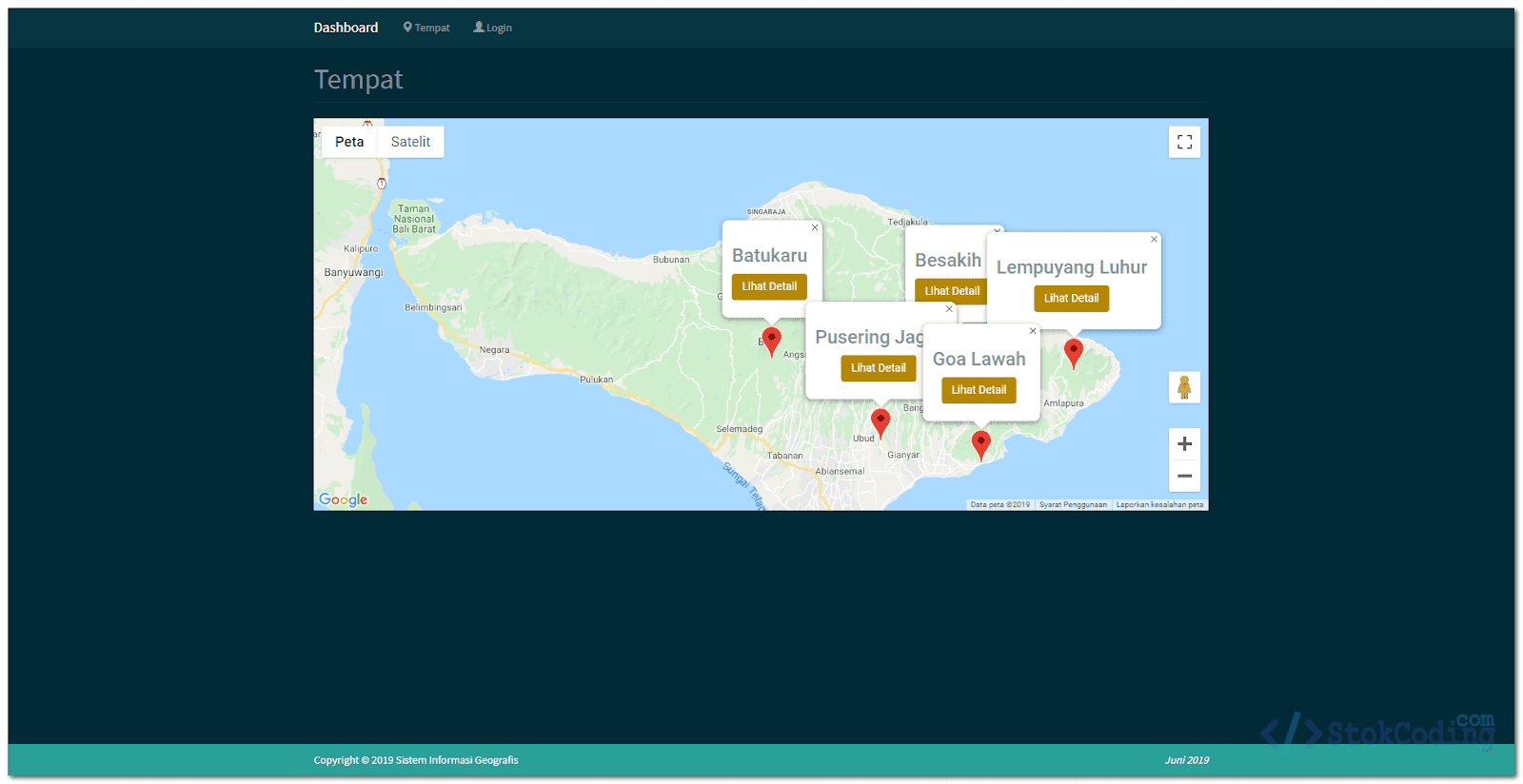 Sistem Informasi Geografis Tempat Wisata (PHP)