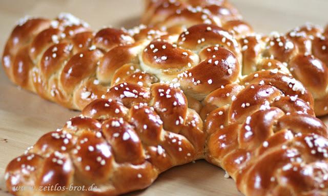 Ein Stern aus Hefeteig von Zeitlos-Brot