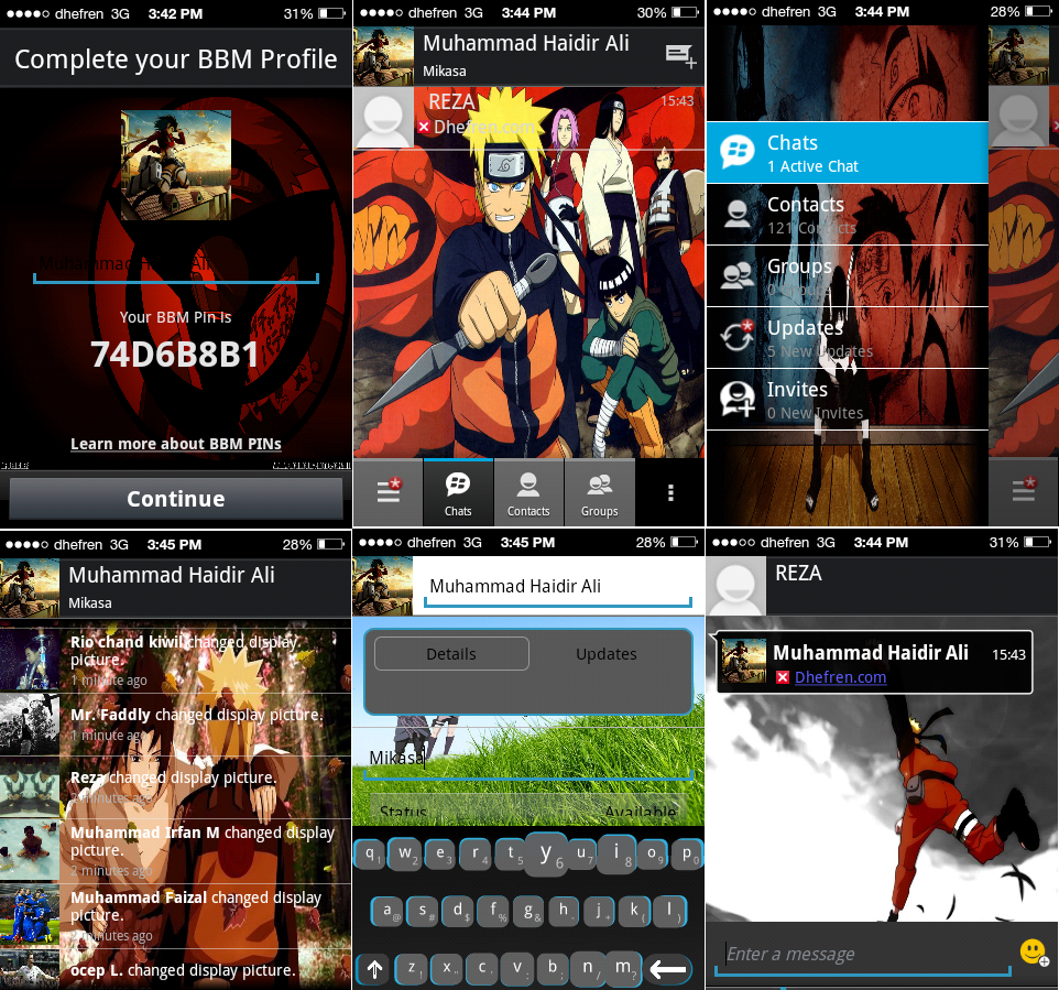 Kumpulan BBM MOD Apk Anime Android For Gingerbread Kabarlangit