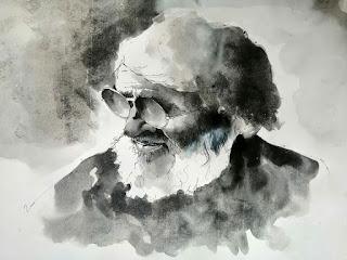 "चित्र बनाकर ""एमएफ हुसैन"" को दी श्रद्धांजलि | #NayaSabera"