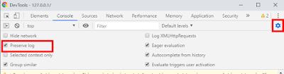 DevToolsでPreserveLogをチェック