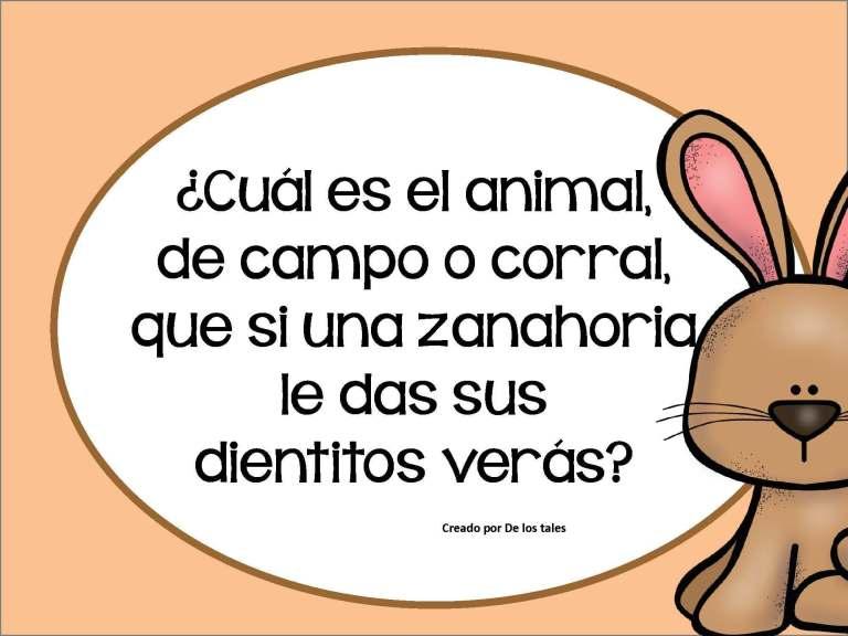 Adivinanzas Para Ninos De Animales Con Respuesta Jugar Y Colorear