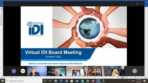 Wakil Ketua BPK Hadiri IdI Board Meeting Secara Virtual