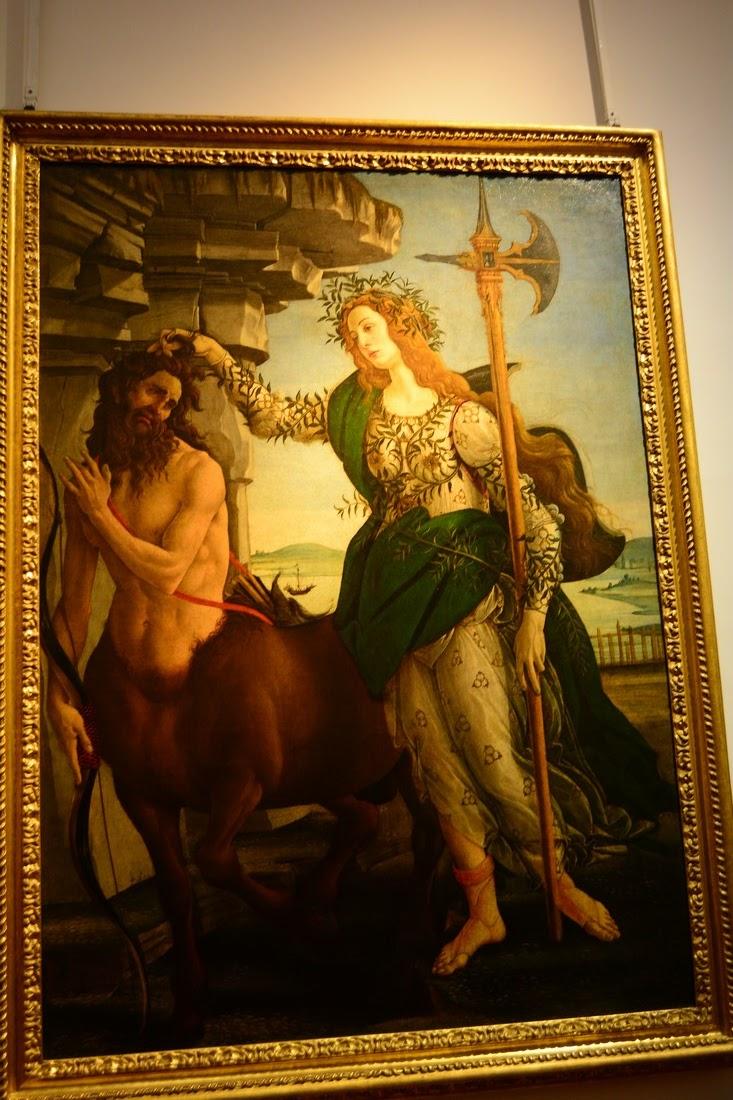 Botticelli - Pallas et le Centaure - 1482