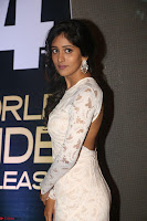 Chandini Chowdary in white Tight dress at Shamanthakamani pre release function ~  Exclusive 041.JPG
