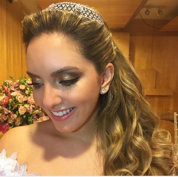Lelê Saddi noiva, maquiagem