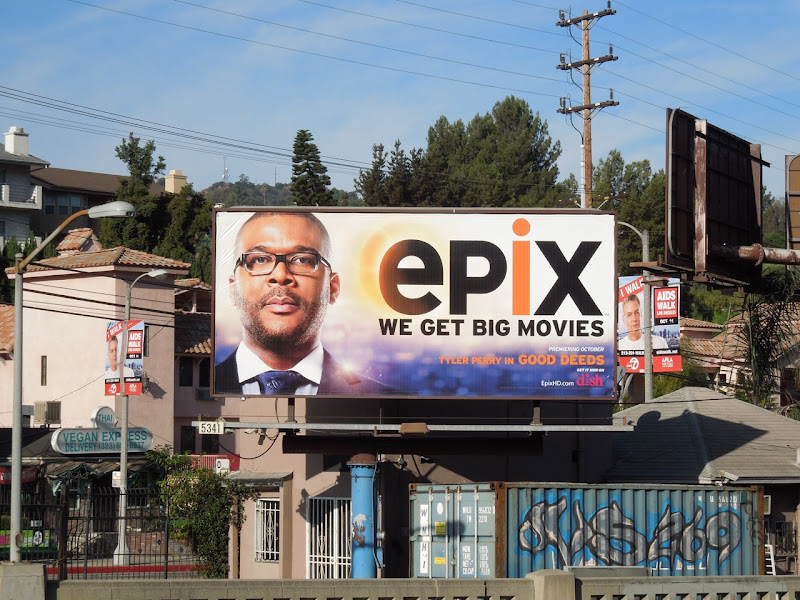 Tyler Perry Epix movie billboard