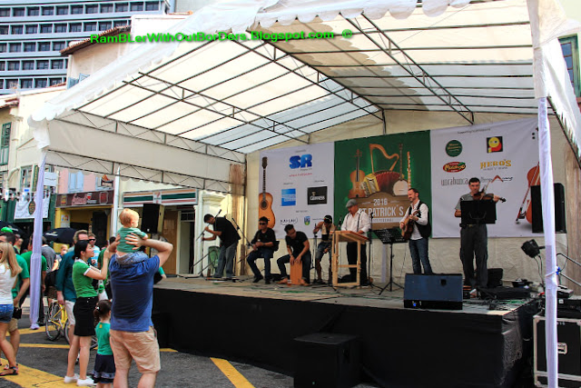 Live performance, St Patrick's Day Street Festival, Singapore