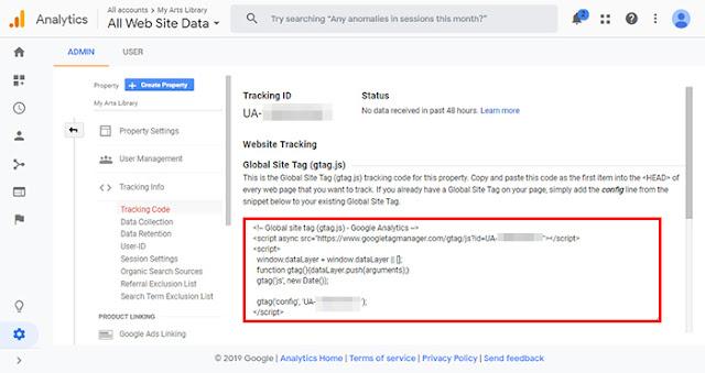 tracking code google analytic